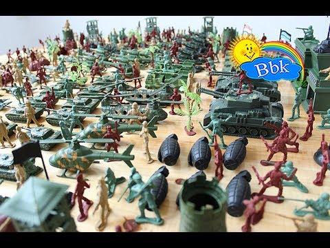 Домашние сражения игрушек ↑ Военные солдатики, самолёты, танки, катера, роботы ↑ Обзор игрушек