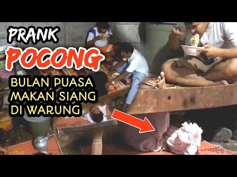 Di Grebek Pocong Makan Siang di Warung Bulan Puasa !!! Prank Pocong Indonesia