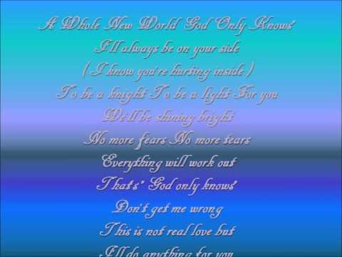 a whole new world god only knows lyrics
