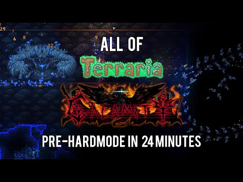 All Of Terraria Calamity Mod Pre-hardmode In 24 Minutes (1/3)