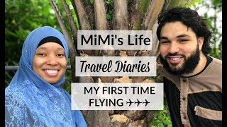 MiMi's Life | MY FIRST TIME FLYING ON A PLANE!!! TRAVEL DIARY (1)