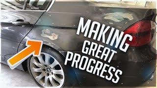 Rebuilding BMW 335i Involved In Gun Fight! Part.9