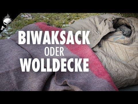 Ausrüstung: Wolldecke oder Biwaksack –Bushcraft Winterübernachtung nach Trapper Art