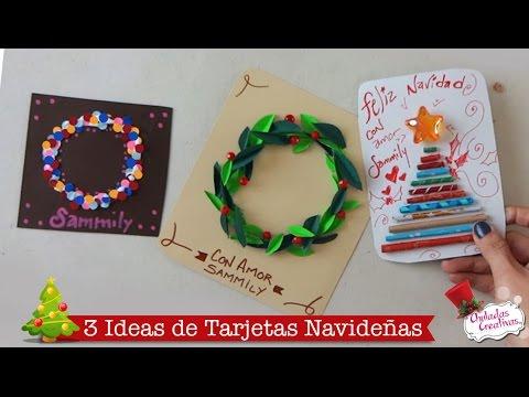 tarjetas f ciles de navidad manualidades navide as On tarjetas navidenas creativas