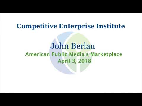 John Berlau Discusses Accountability At The CFPB With American Public Media's Marketplace