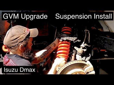 GVM upgrade, Isuzu Dmax Suspension install from front to rear, the new GVM is 3450kg. Wayne Groomes.