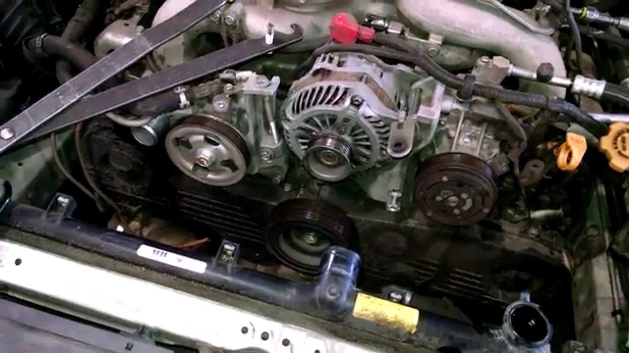 timing belt replacement subaru legacy 2009 water pump how to change rh youtube com 2.5 Subaru Engine Oil Lines Subaru 2.5L Engine