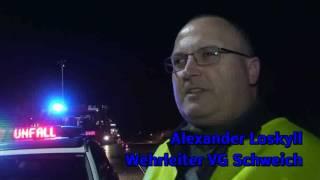 Schwerer Unfall Höhe Rastplatz Rivenich