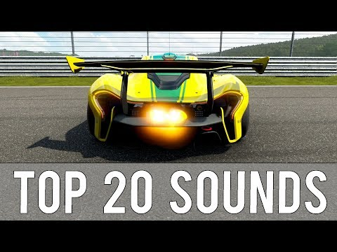 Forza 7 - TOP 20 BEST EXHAUST SOUNDS 🔊💥| Pops, Bangs, Tunnels & Accelerations!