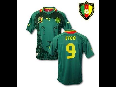 2a3ed1b19ca Cameroon National Football Shirt Jersey by Puma Eto o - YouTube