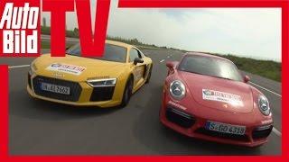 Audi R8 vs Porsche 911 Turbo S - Fahrbericht/ Review/ Test/ Sound