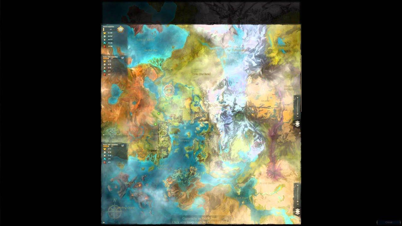 Guild Wars 1 World Map.Guild Wars 1 Vs Guild Wars 2 Map Transformation Comparison Youtube