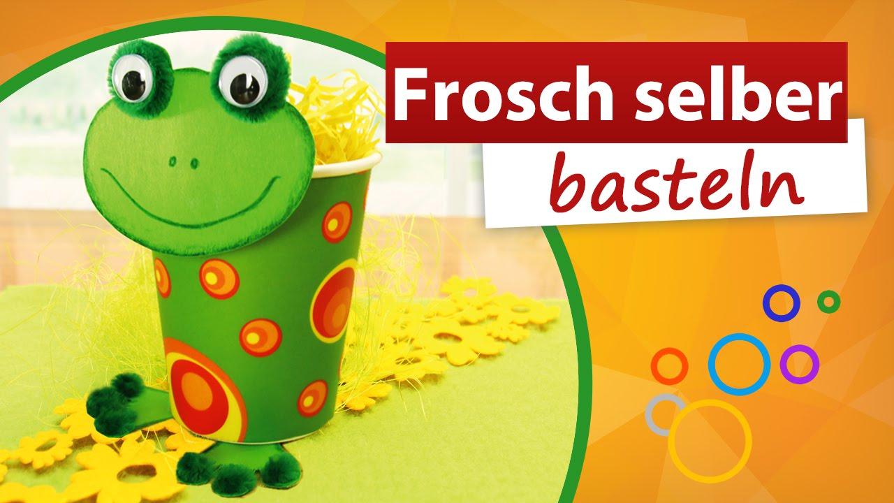 ◁ Frosch Selber Basteln ▷ Trendmarkt24   Kindergeburtstag Bastelidee    YouTube