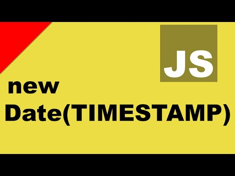 JavaScript Date From UNIX Timestamp - YouTube
