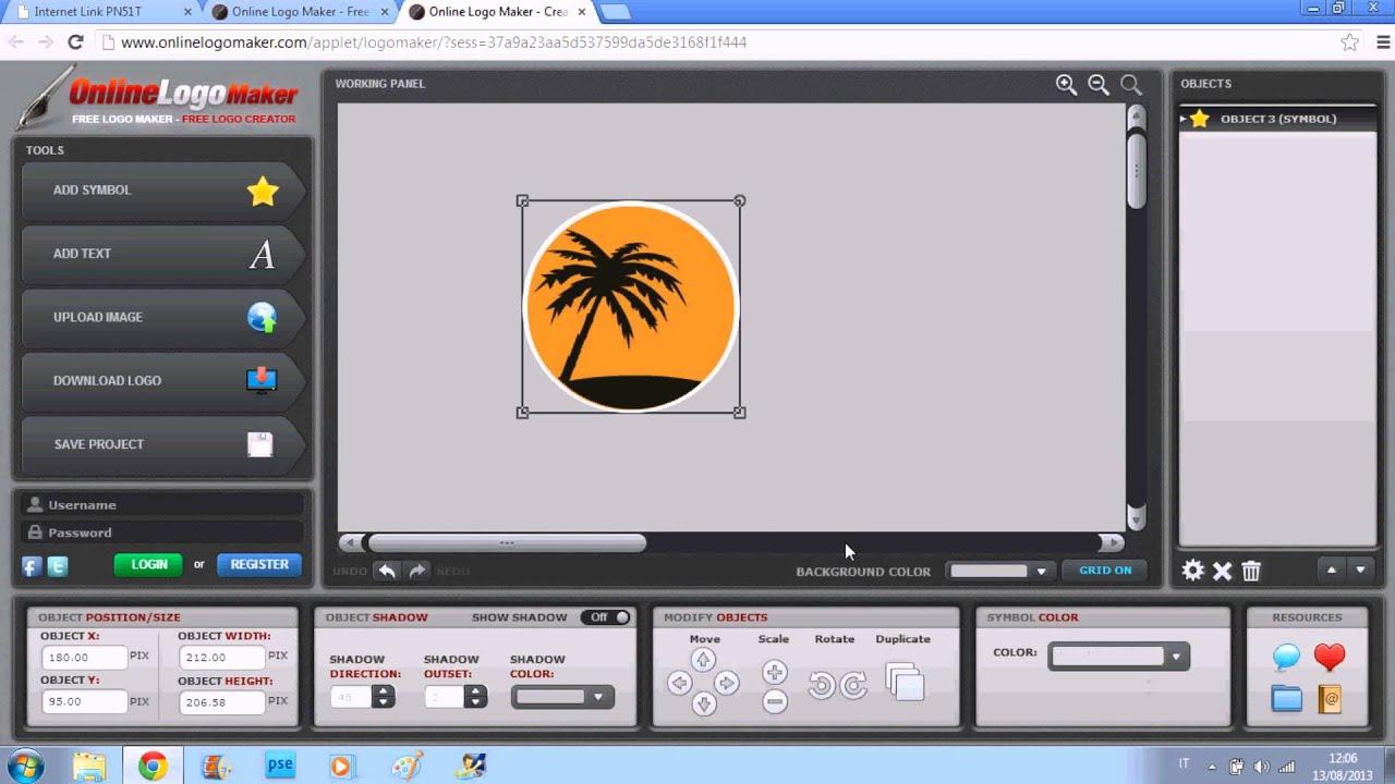 Come creare un logo online gratis youtube for Creare progetti online