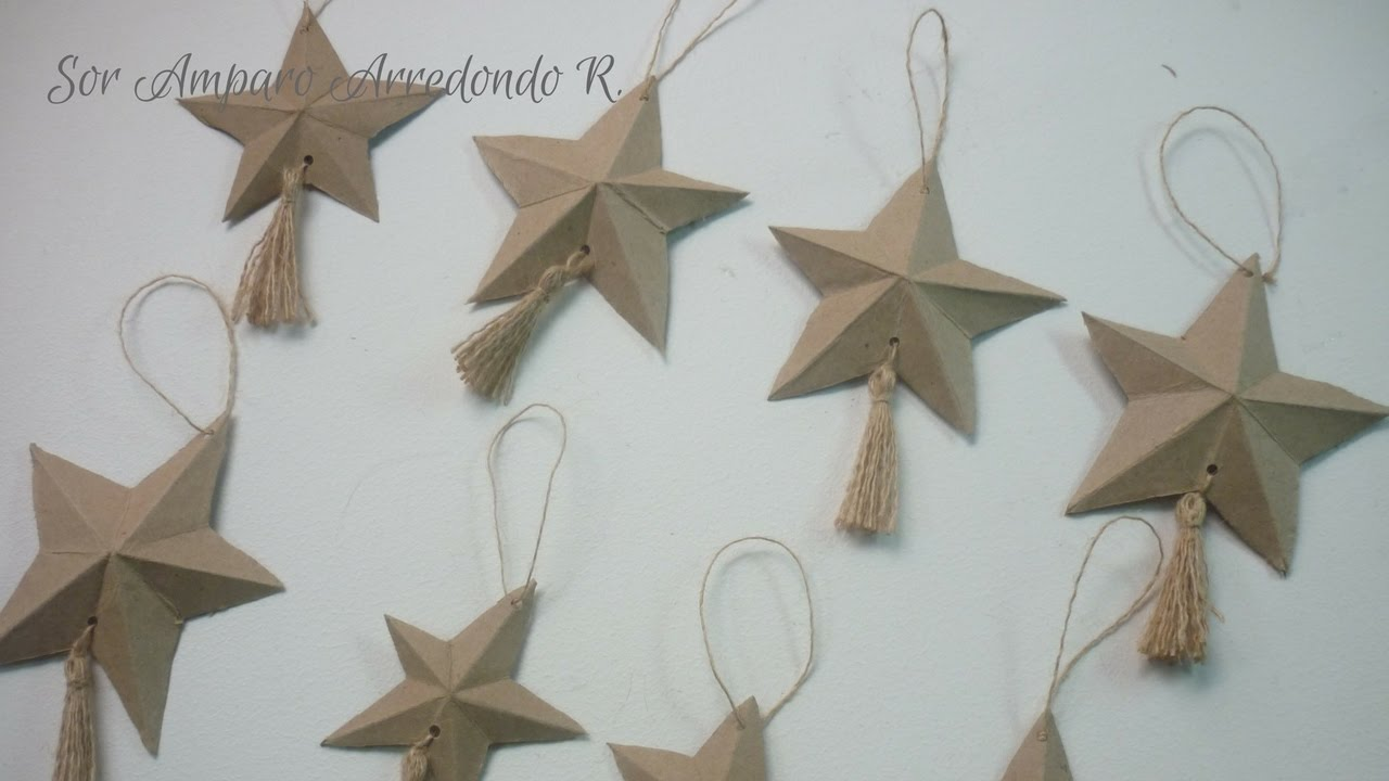 Manualidades para navidad como hacer estrella para - Manualidades para decorar el arbol de navidad ...