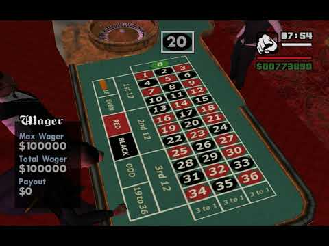 Roulette table number sequence