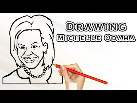 Drawing Michelle Obama | Drawing Famous People | Draw Easy For Kids