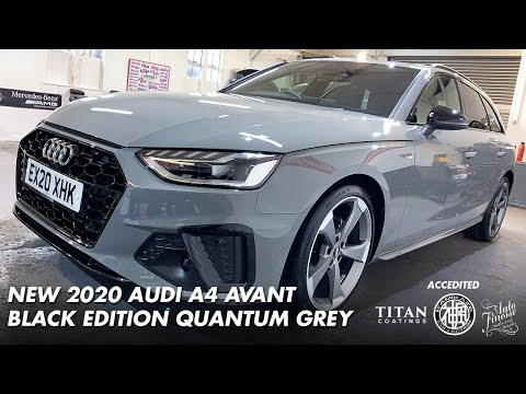New 2020 Quantum Grey A4 Avant Black Edition Offset Detailing Essex Youtube