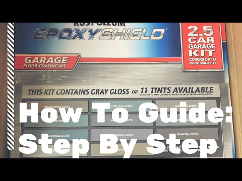 HOW TO: Rust Oleum Epoxy Shield Garage Floor Kit - Apply In COLD Weather BELOW 60 DEGREES & RAIN