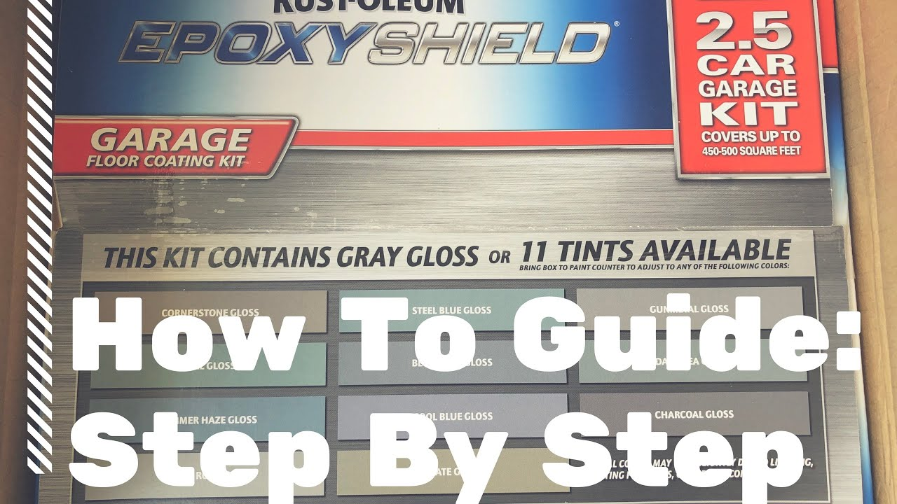 How To Rust Oleum Epoxy Shield Garage Floor Kit Apply