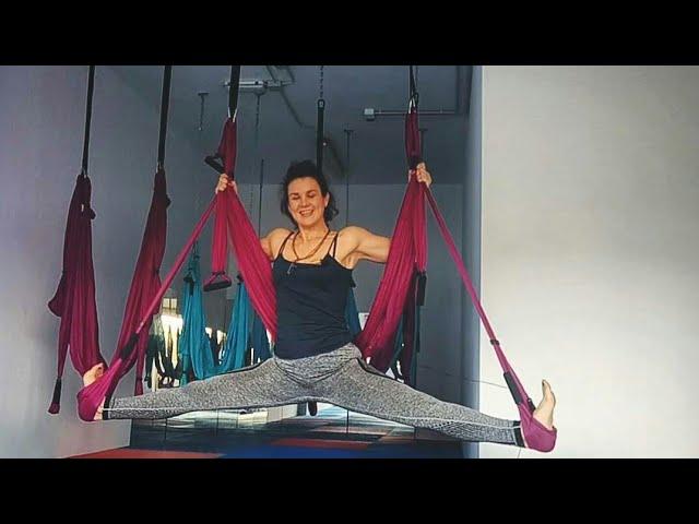 Yoga en Suspensión : apertura de caderas 🙋