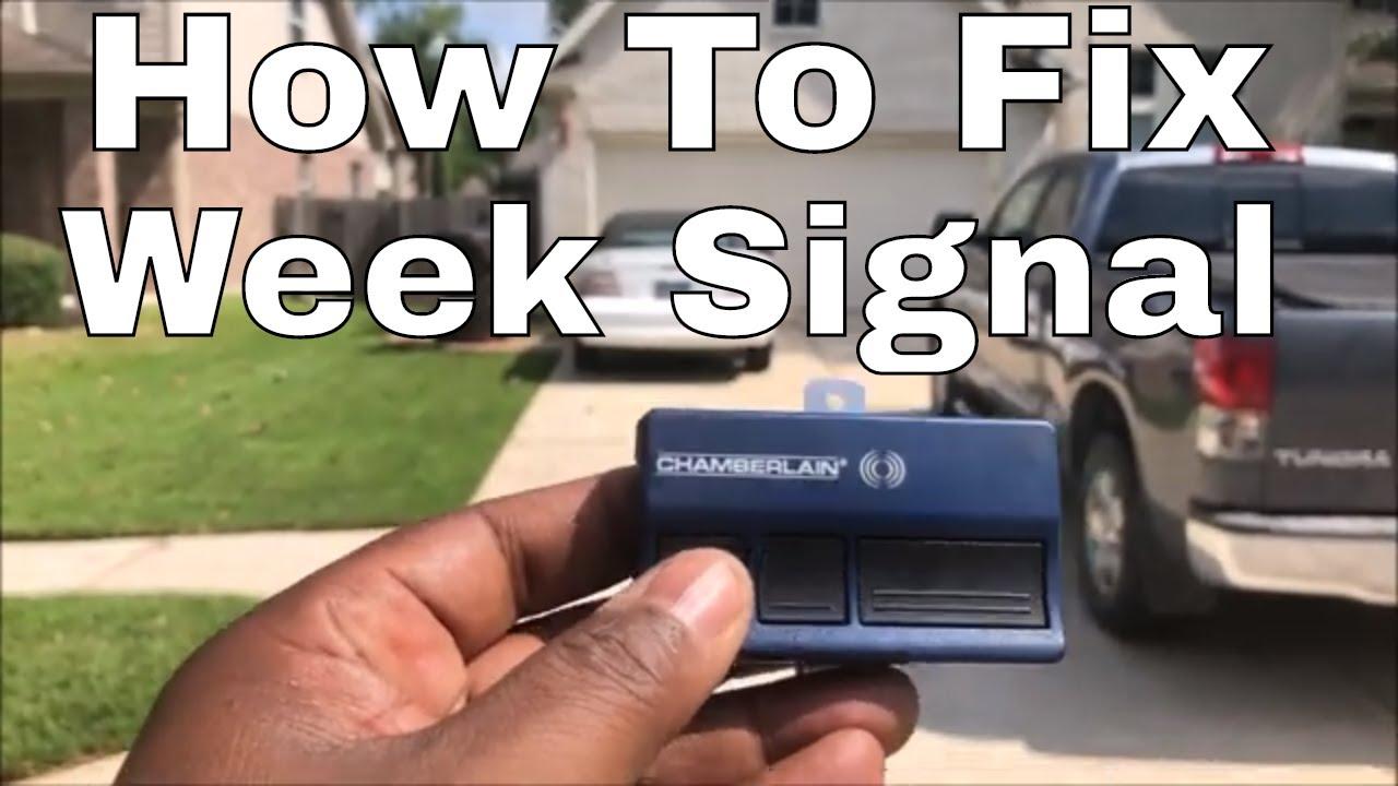 Garage Door Opener Antenna Extension How To Fix In 5 Minutes Youtube