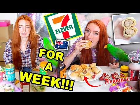 I ONLY ATE FOOD FROM 7-ELEVEN AUSTRALIA FOR A WEEK!!! Convenience Store Food Challenge 2020