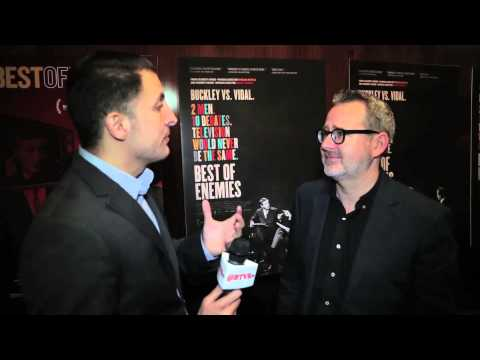 """Morgan Neville at the """"Best of Enemies"""" NY Premiere with BTVRtv's Arthur Kade"""