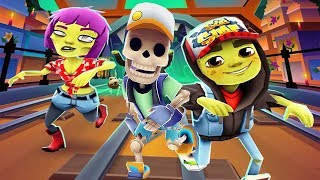 Subway Surfers Android Gameplay - Mexico Halloween Manny vs Zombie Jake vs Zoe World Tour