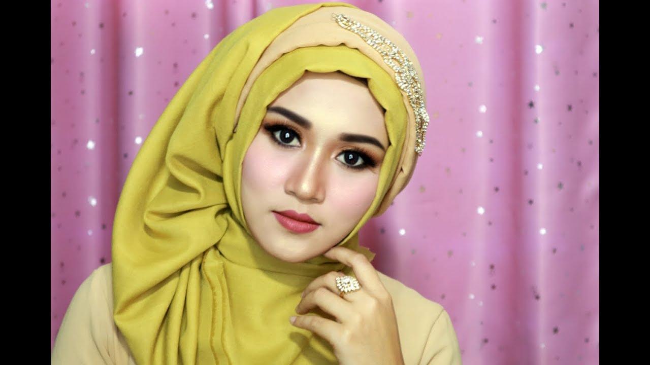 Tutorial Make Up Dan Hijab Segi Empat Simple Mewah Hijab Pesta Hijab Kondangan Hijab Wisuda Astaga Com