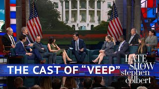 The Cast Of 'VEEP' Meets Superfan Stephen Colbert