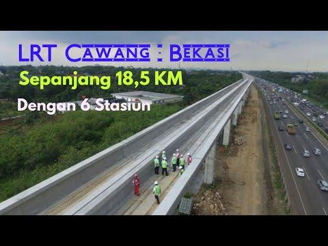 Lrt Jakarta Koridor Cawang Bekasi Youtube