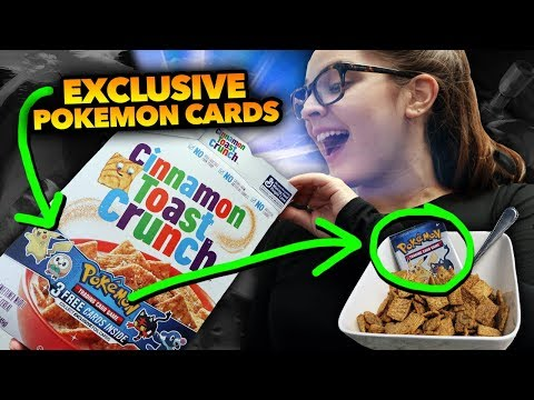 EXCLUSIVE Pokemon Cards in Cereal?! Collect ALL 4 Sun and Moon Promos!!