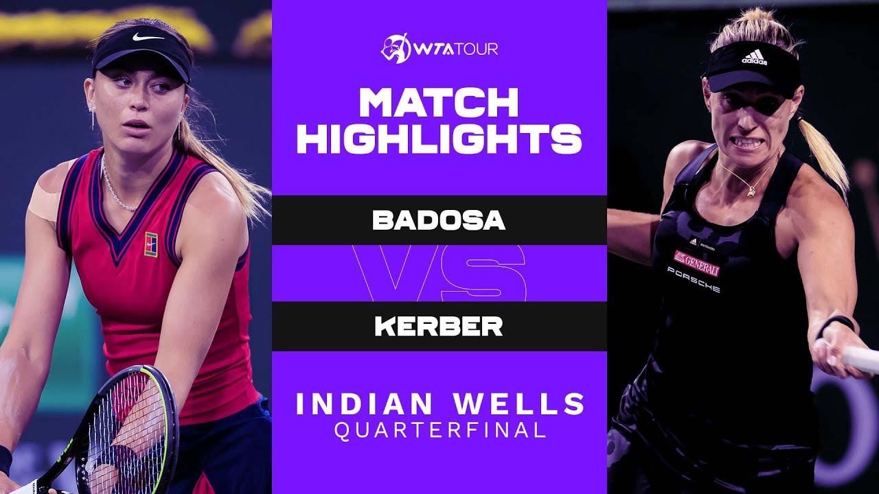 Download Paula Badosa vs. Angelique Kerber | 2021 Indian Wells Quarterfinal | WTA Match Highlights