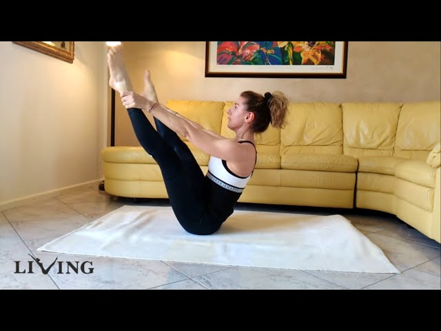 At Home - Pilates matwork 3 #iomiallenoacasa #pilates