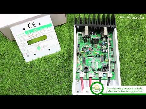 Regulador de Carga Schneider Xantrex  C35 C40 C60. Puesta en marcha y configuración