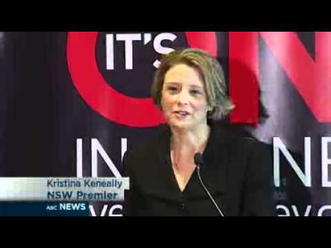 Keneally laughs off cycling crash