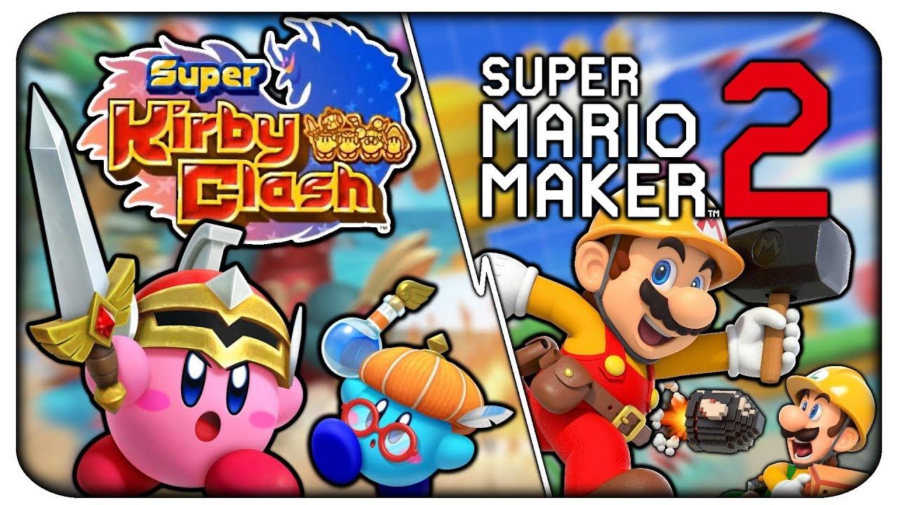 Bisschen spontan streamen wahrscheinlich Super Kirby Clash und Mario Maker 2