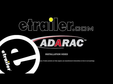 Adarac Aluminum Series Custom Truck Bed Ladder Rack Manufacturer Installation - etrailer.com
