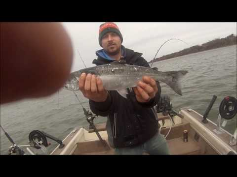 Spring Coho salmon fishing Lake Michigan 2017