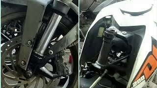 Ktm 200 & 390  frok oil leak problem Changing new oil seal & cone set bearing