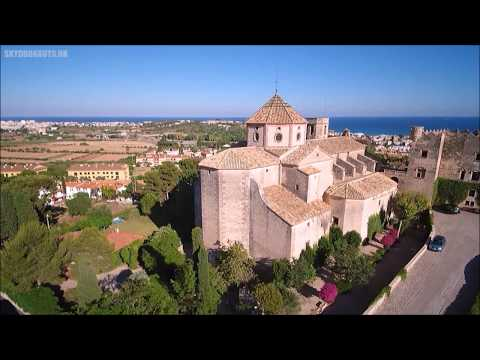 Altafulla Castle and Church, Spain  -  Dji Mavic Pro drone -  Skydronauts