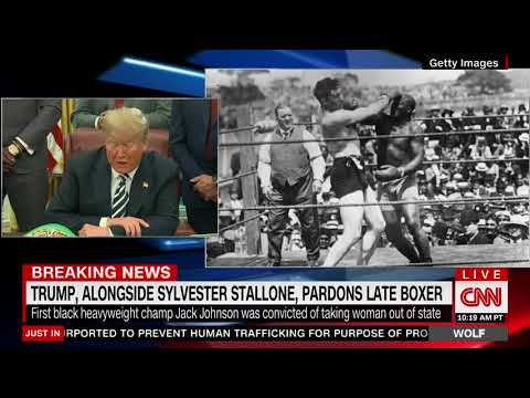 Trump Grants Posthumous Pardon to First Black Heavyweight Champion Jack Johnson