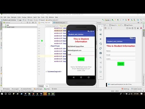 Student information system android app using android studio tutorial