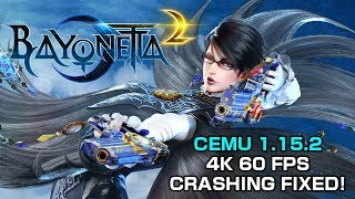 CEMU 1.15.2 - Over An Hour of Bayonetta 2 4K 60 FPS - Crashing Fixed with Triplecore Recompiler!