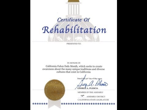 "How to get a ""Certificate of Rehabilitation"" in California"