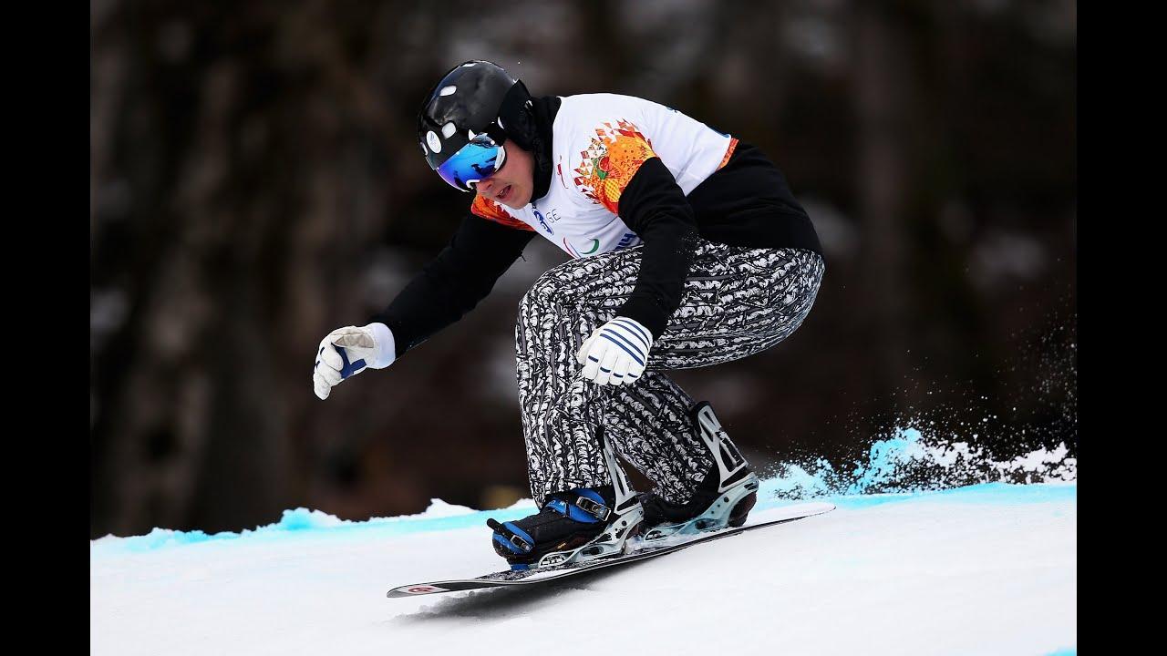 Matti Suur Hamari Rd Run Mens Para Snowboard Cross Alpine Skiing Sochi  Paralympics