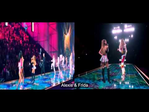 Ariana Grande en Victorias secret fashion show errores fails