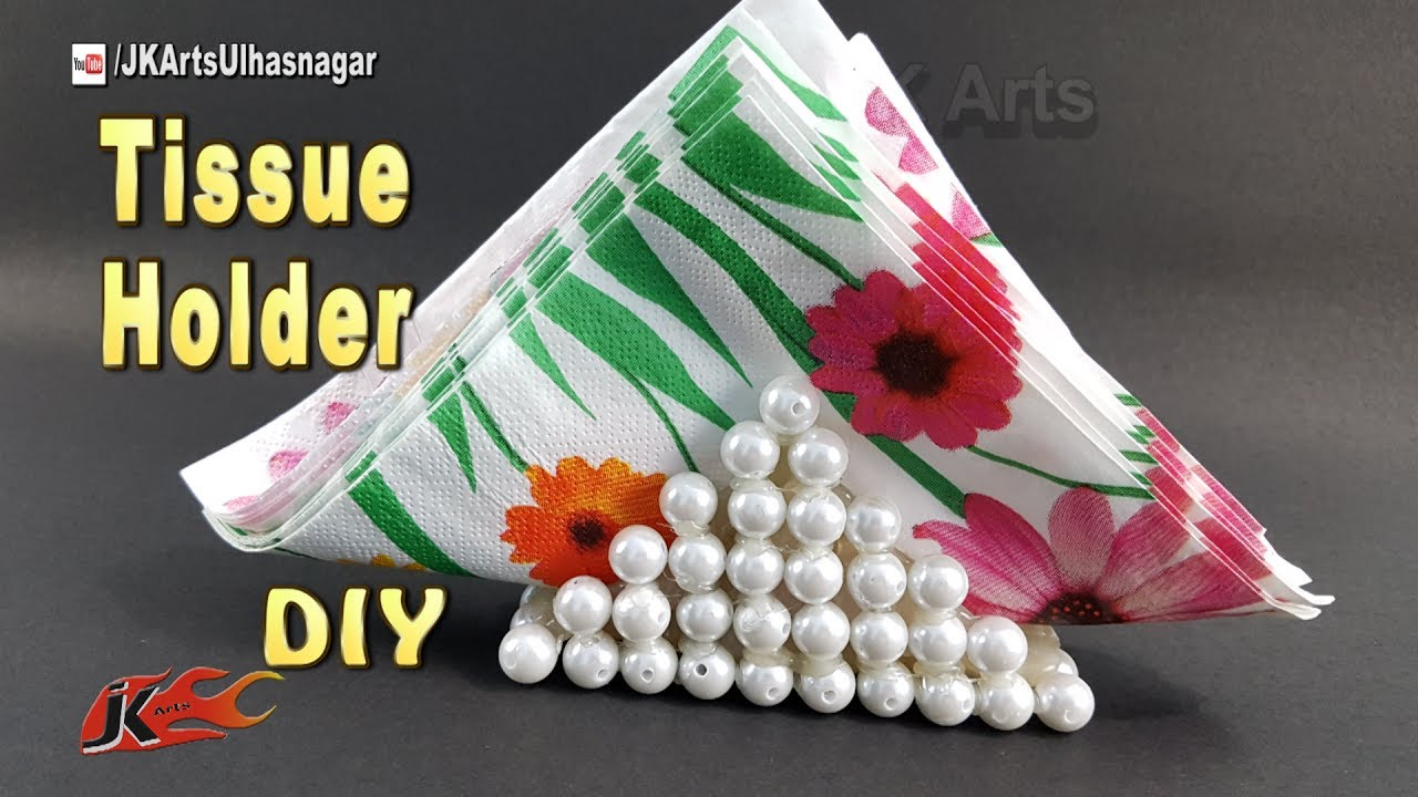 Diy Paper Napkin Holder How To Make A Tissue Paper Holder Home Decor Jk Arts 1224